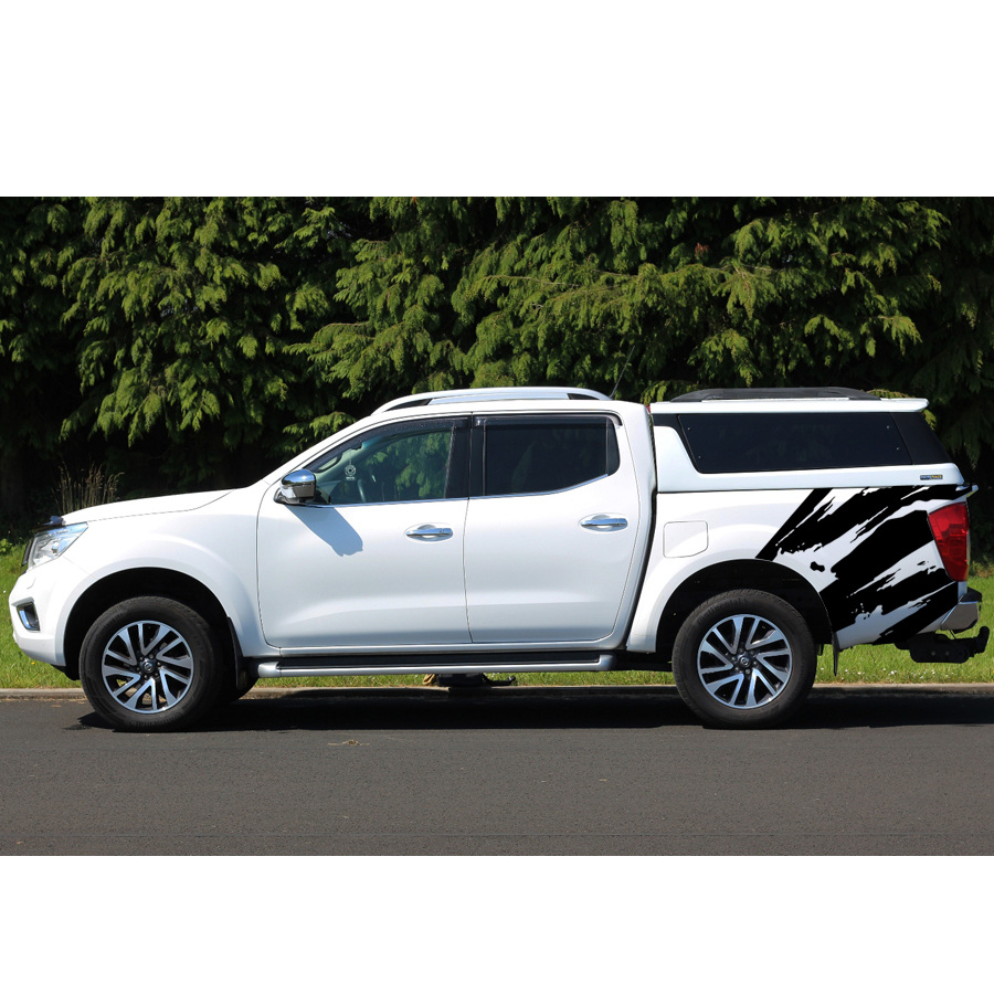 free shipping 2 PC body rear tail side graphic vinyl for NAVARA NP300 2015 sticker free shipping hilux racing side stripe graphic vinyl sticker for toyota hilux first impressions