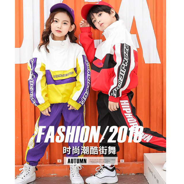 f56b9d748 Kids Ballroom Jacket Jogger Pants dancing Stage wear Outfits Girls ...