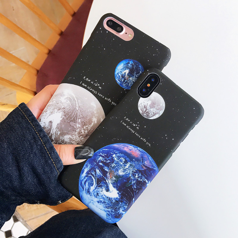 KIP7P1253_5_JONSNOW Phone Case For iPhone 6 6S 7 8 Plus Earth Planet Starry Sky Patterns PC Hard Case for iPhone X XR XS Max Back Cover Capa Fundas