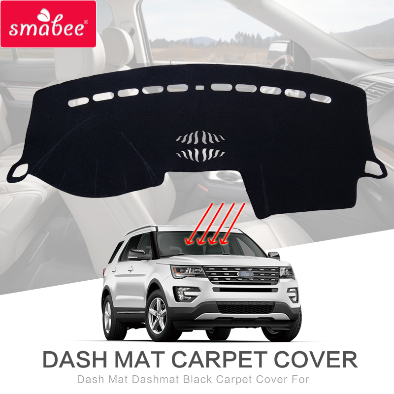 smabee Dash Mat Dashmat Black Carpet Cover For Ford Explorer 2011-2017 Sunscreen insulation dashmat original dashboard cover buick skyhawk