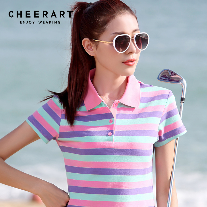 P lus Size M-4XL ผ้าฝ้าย 100% เสื้อโปโลผู้หญิงฤดูร้อนด้านบนเลดี้ลายโปโล Raph เสื้อหญิงโปโล F Emme เสื้อกอล์ฟเสื้อผ้า