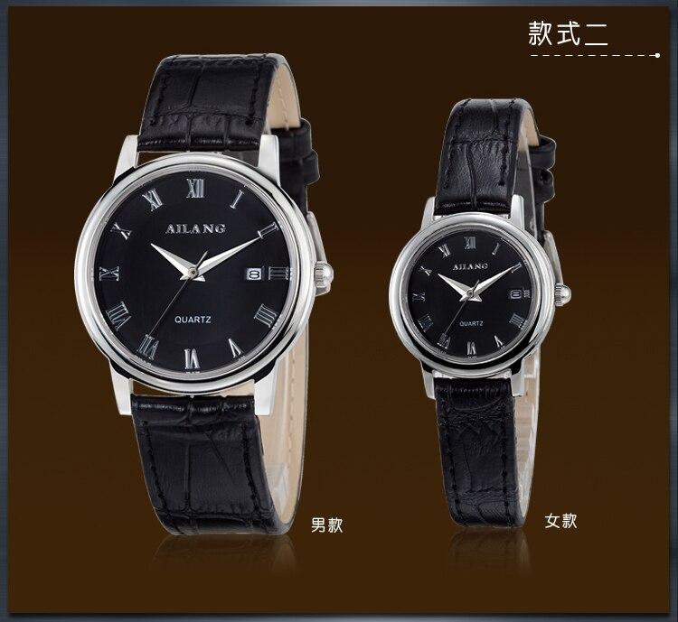 AILANG Business Designer Lovers Roman Dress Watches Japan Quartz Calendar Wrist Watch Men Women Ultra-thin Leather Relojes W046