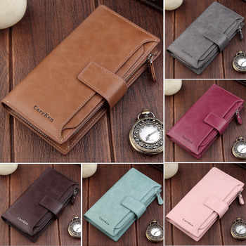 цена на Female Wallet PU Leather Long Purse Blue/pink/red/Coffee/gray Famous Brand Designer Wallet Women 2019 Quality Female Purse