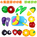 The simulation interesting fruits and vegetables  Children play   Kitchen  Cut Fruit Plastic Miniature Toys