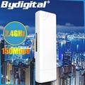 3 KM CPE 2.4 Ghz 150 Mbps CPE al aire libre de Largo Alcance Del Router Repetidor WIFI Amplificador de Señal y Amplificador de Puente de Red 15dBi Antena