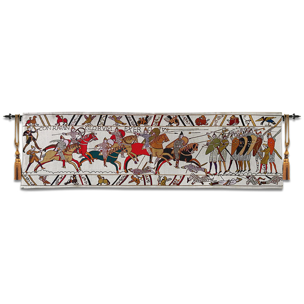 45x138 cm Belga 100% cotone arazzo medievale Europea cultura arazzi Bayeux arazzo vento Britannico arazzo pittura ST-55