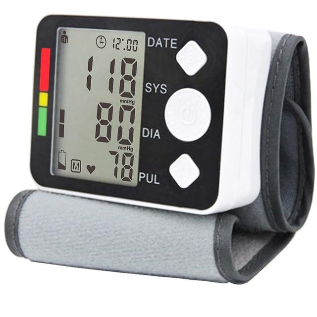 LCD Digital Display Screen Home Automatic Wrist Digital Blood Pressure Monitor Tonometer Meter for Measuring And Pulse Rate