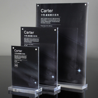 2 Units Pack Prexiglass Magnet Table And Menu Acrylic Display Sign Holders For Hotel Cafe