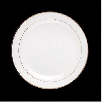 Kitchen Phnom Penh Plate 6pieces European Western Plates Western Point Plate Round Western Plate White Bone Porcelain Plate фото