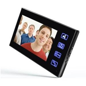 """Image 2 - MAOTEWANG 7"""" RFID Password Video Door Phone Intercom Doorbell With IR Camera 1000 TV Line With NO Electric Strike Door Lock"""