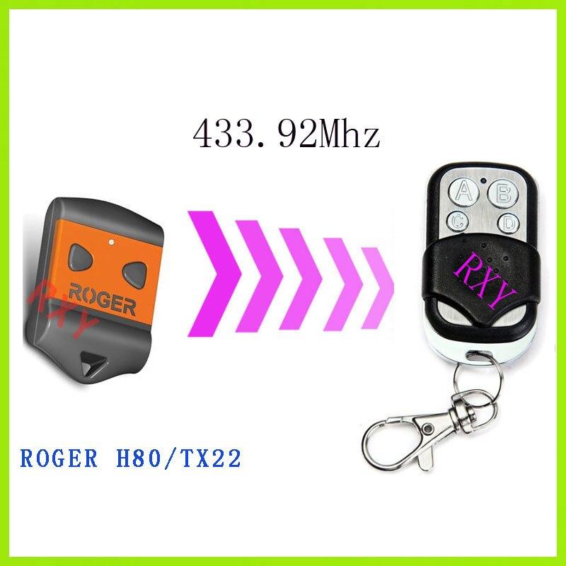 نسخة روجر h80/TX22 النائية 433.92 ميجا هرتز مع البطارية