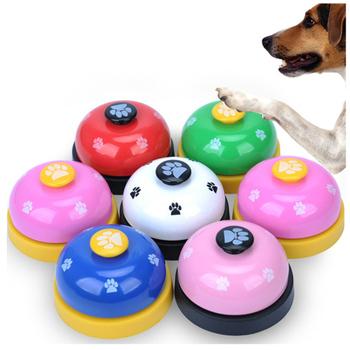 """Dla zwierząt domowych zabawki metalowe dzwonki dla zwierząt domowych zabawki interaktywne zwierząt pies proszę kliknąć na przycisk """" Clicker dźwięk trener zwierzęta domowe są przyrząd szkoleniowy tanie i dobre opinie Pet bell Szkolenia Clickers STAINLESS STEEL PESIFUTE"""