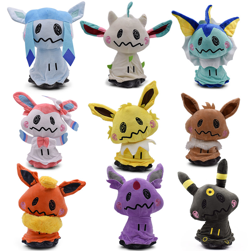 9 Styles 20/30 Cm Plush Hot Toys Mimikyu Cosplay Sylveon Umbreon Eevee Espeon Vaporeon Flareon Leafeon Stuffed Animal Soft Dolls