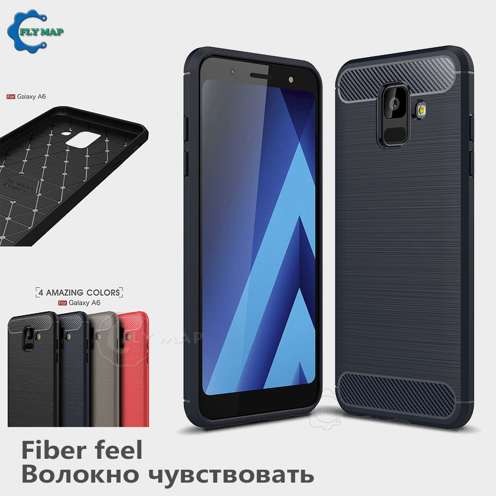 Silicone Soft Case for Samsung Galaxy A6 A 6 2018 SM A600 A600FN A600FN/DS TPU Carbon Fibe Phone Cover SM-A600FN SM-A600FN/DS nokia 8 new 2018