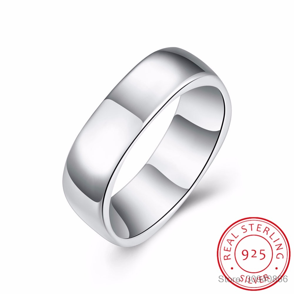 Hot Sales 925 Sterling Silver Rings Jewelry Brand Fashion Simple Women Men Jewelry High Quality Charm Woman Rings Free Shipping