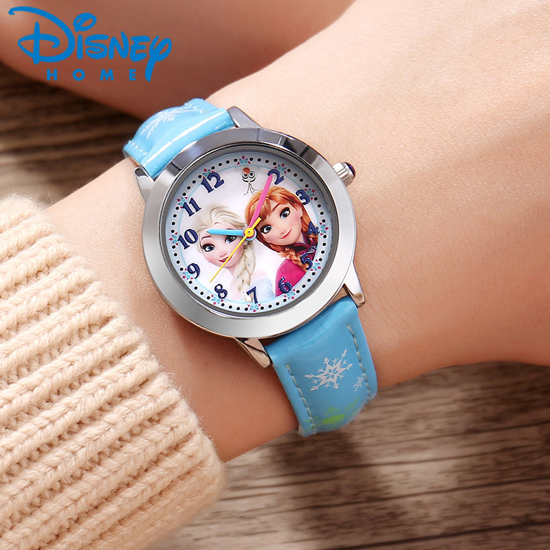 Disney Fashion Kids Watches For Girls Frozen Princess Luxury Quartz Wristwatches Sophia Princess Girl Child Casual Watches Watches