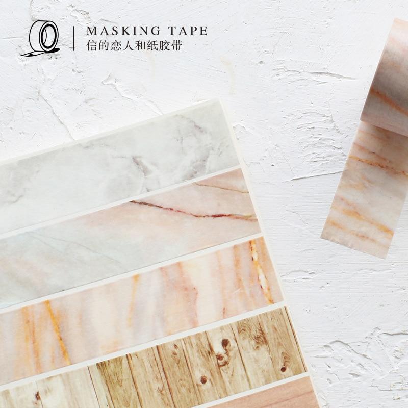 30mm*7m Shading Color Washi Tape Adhesive Tape DIY Scrapbooking Sticker Label Masking Tape 8 Styles