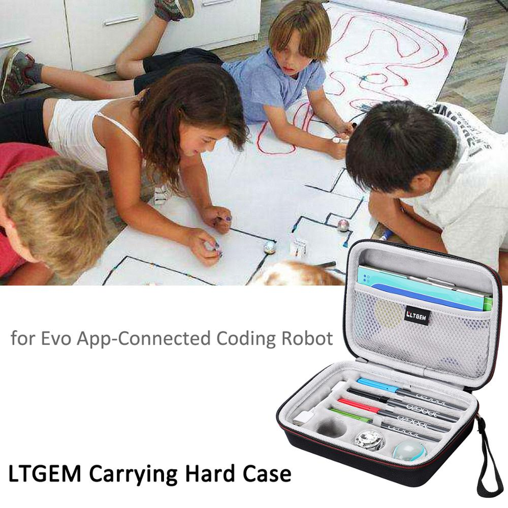 LTGEM Carrying Case For Ozobot Evo App-Connected Coding Robot - Fits USB Charging Cable / Playfield / Skin / 4 Color Code Marker