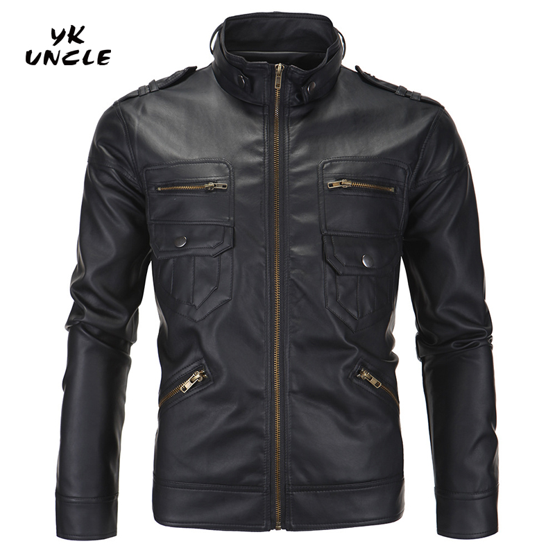 Free Shipping 2016 New Fashion Autumn Winter Mens Leather ...