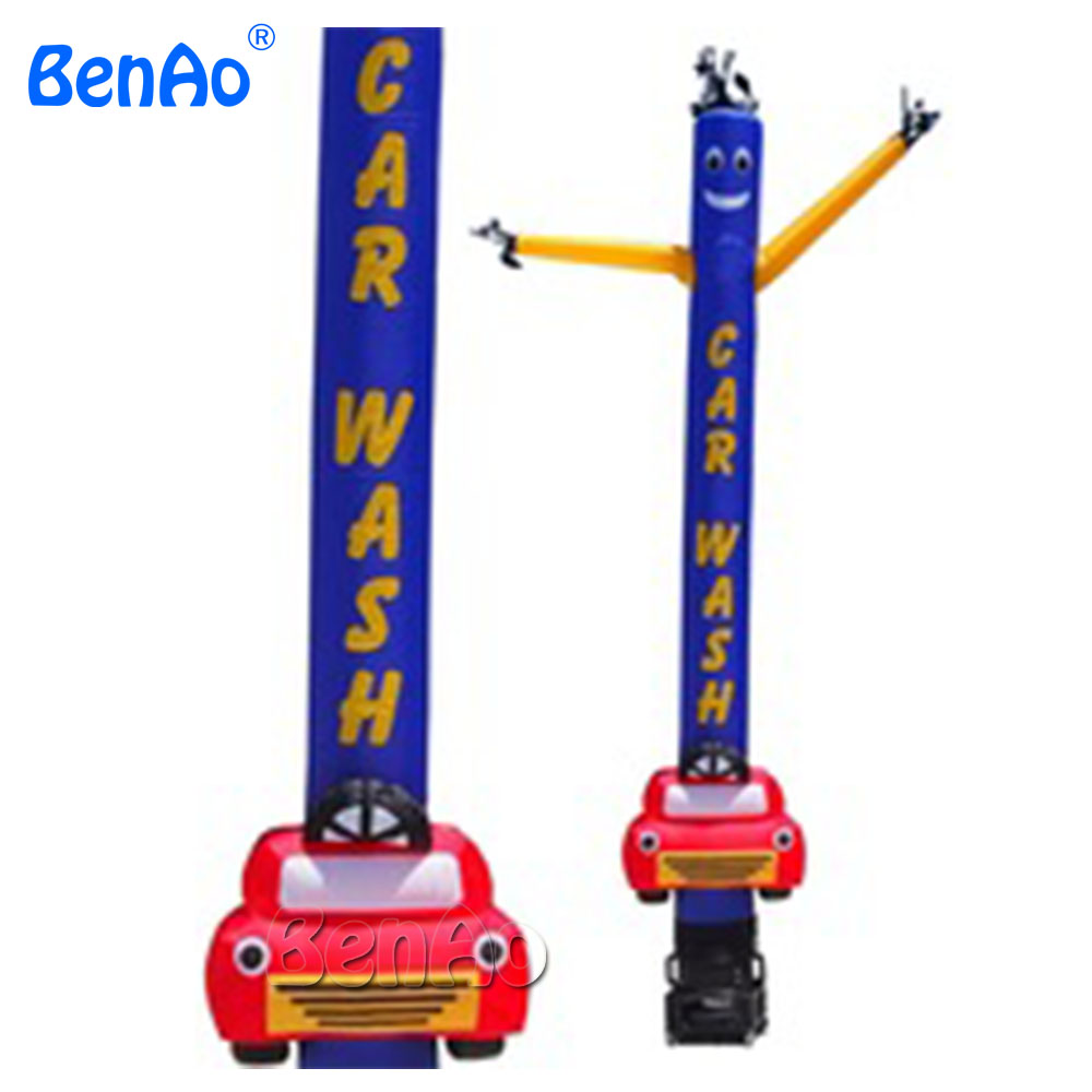 AD073 BENAO 5m Outdoor advertising car wash inflatable air dancer dancing man, desktop air dancer with letters 6m 20ft 2 legs inflatable air dancer sky dancer for advertising free shipping 2pcs 950w blower with light
