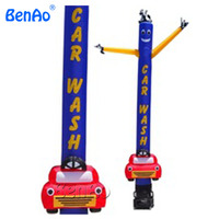 AD073 BENAO 5m Outdoor advertising car wash inflatable air dancer dancing man, desktop air dancer with letters