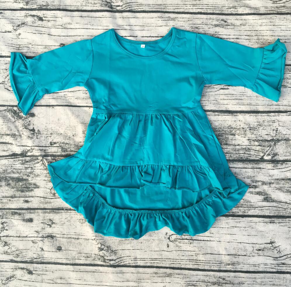 f71d0055c beautiful children high low dress Wholesale girls long sleeve dress ...