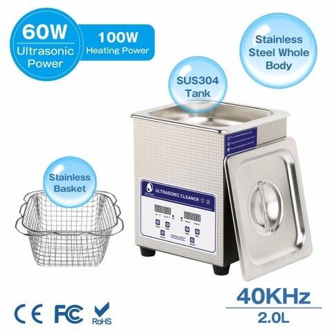 SKYMEN Digital Ultrasonic Cleaner Bath 2L 60W 40kHz for Medical and Dental Clinics, Tattoo Shops, Scientific Labs and Golf Karachi