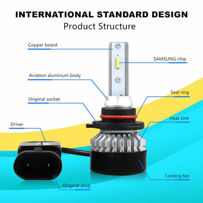 Inlong 2Pcs H4 H7 LED Headlight Bulbs  H11 H1 H3 9005 9006  Samsung Chip 6000K 10000LM Car Led Auto Headlamp Headlight Fog Light