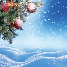 Yeele Christmas Photocall Scenery Pine Balls Snow Photography Backdrops Personalized Photographic Backgrounds For Photo Studio kate photography backdrops three small snow man scenery backdrop mountain photocall backgrounds for photo shoot