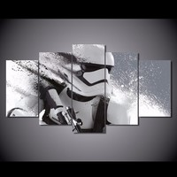 5 Piece Printed Star Wars Stormtrooper Movie Poster Canvas Painting Wall Pictures For Living Room Decorative