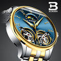 2018 новые механические мужские часы Бингер роль люксовый бренд Скелет наручные сапфировые водонепроницаемые часы мужские часы reloj hombre