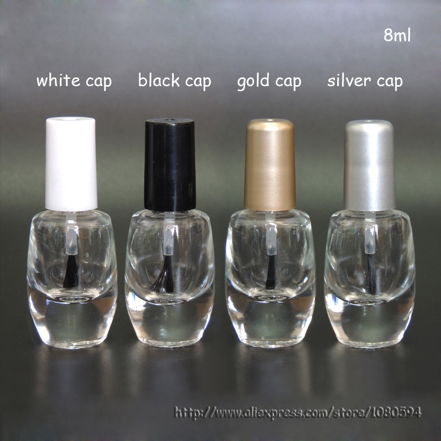 100pcslot 7 8ml clear glass Empty Nail Polish Bottle in ...