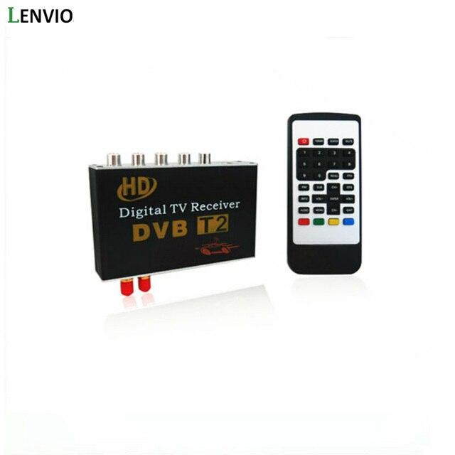 Lenvio Dual Antenna High Speed Car HD DVB-T2 Mobile MPEG4 Digital TV Box Digital TV Turner Receiver auto tv box  120-150KMH