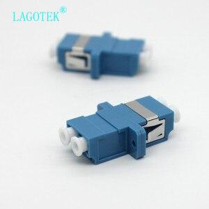 Image 2 - 25/50/100/200Pcs LC UPC Duplex single mode Fiber optic Adapter LC Optical fiber coupler LC UPC Fiber flange LC connector