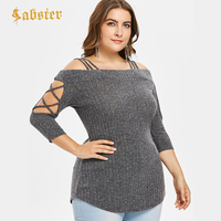 Большие размеры 5xl летняя футболка женская с коротким рукавом с открытыми плечами женская с коротким рукавом с круглым вырезом повседневны