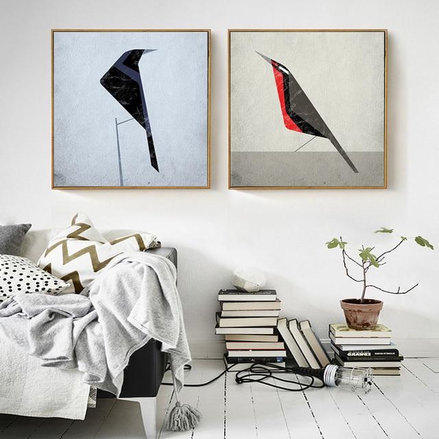Scandinavische Eenvoudige Vogel Print Canvas Schilderij Decor Home