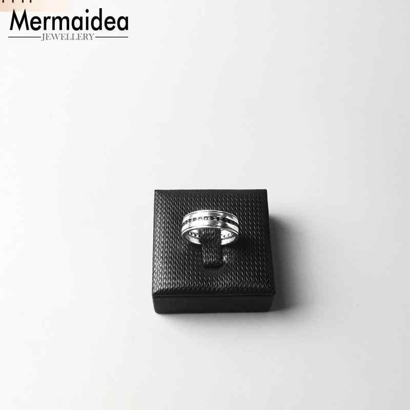 สีดำ Eternity 925 เงินสเตอร์ลิงวงแหวนสำหรับสตรีชายโรงงานขายส่งราคา 2019 เครื่องประดับ
