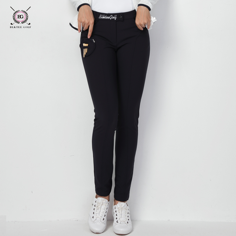 Sports Pants for Women High-Elastic Sportsweaer Slim Golf Trousers Fitness Travel Autumn Winter Golf Apparel 18069 цена