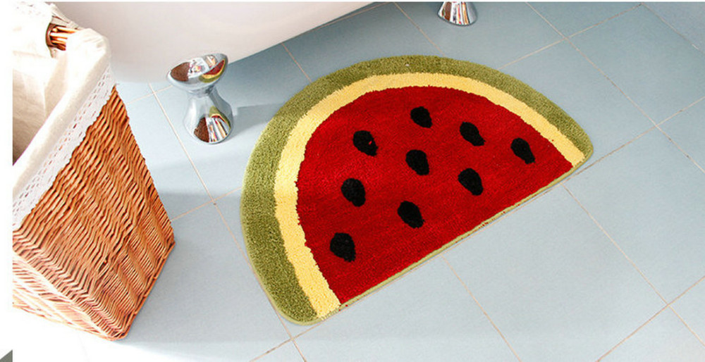 Awesome Non Slip Water Absorbing Cute Fruits Lemon Watermelon Half Round Shaped  Bathroom Rugs Kitchen Mats Kidu0027s Room Carpets Baby Mat In Mat From Home U0026  Garden On ...