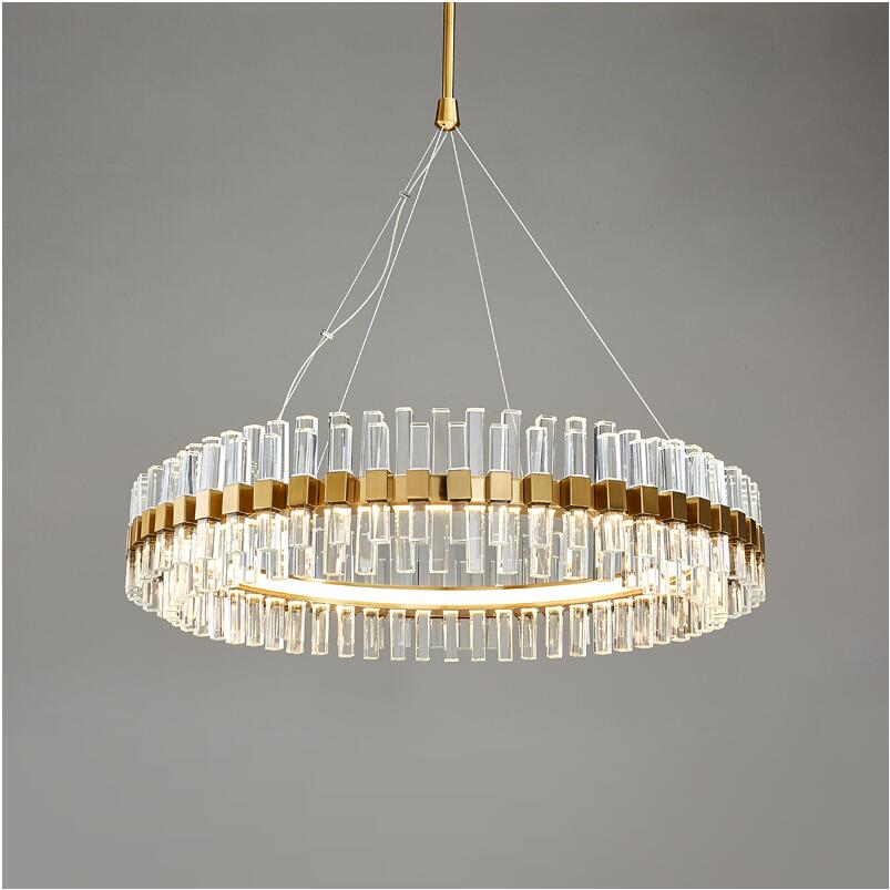 Us 8532 21 Offmodern Luxury Crystal Chandelier Creative Personality Simple Living Room Lamp Ring Hotel Decoration Led Chandelier In Chandeliers
