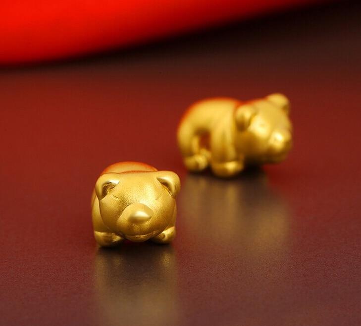 Modo caldo di vendita 1 pz migliore 999 24 k oro giallo orso braccialetto di lavoro a maglia 0.76gModo caldo di vendita 1 pz migliore 999 24 k oro giallo orso braccialetto di lavoro a maglia 0.76g