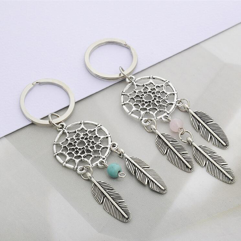 CDCOTN Car Keychain Fashion Simple Dream Catcher Series Bead Key Chain Key Rings Bag Hanging Car Products Accessories Car Stylin in Ornaments from Automobiles Motorcycles