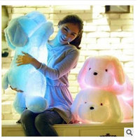 50CM Led Light Pillow Dog Luminous Pillow Light Valentine S Day Gift Stuffed Cartoon Plush Kids
