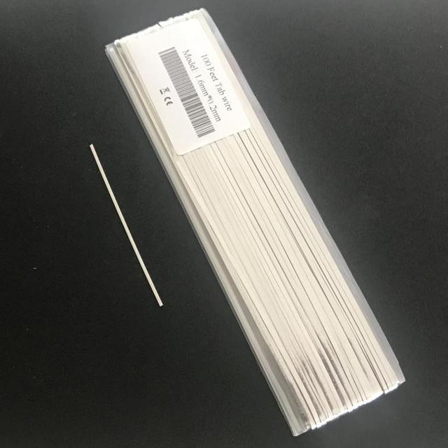 ALLMEJORES Tabbing wire for solar cell 100 feet 1.6mm x 0.2mm PV Ribbon Interconnector Bus bar copper wire for panel solar diy