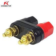 цена High Quality Binding Post Red Black Connector Banana plugs Couple Terminals Amplifier Speaker Banana Plug Jack