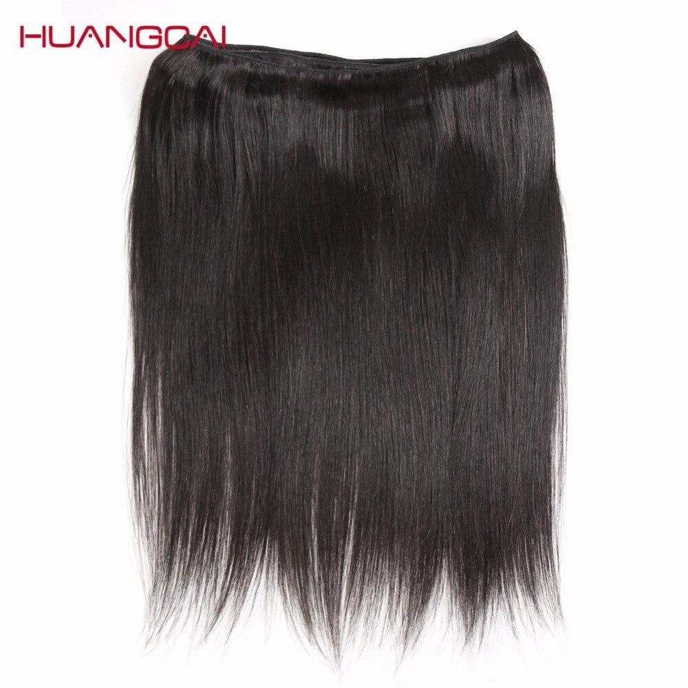 Bulu Rambut Brazil Lurus Sambungan Rambut Manusia 1 Bundle Deals - Rambut manusia (untuk hitam) - Foto 5