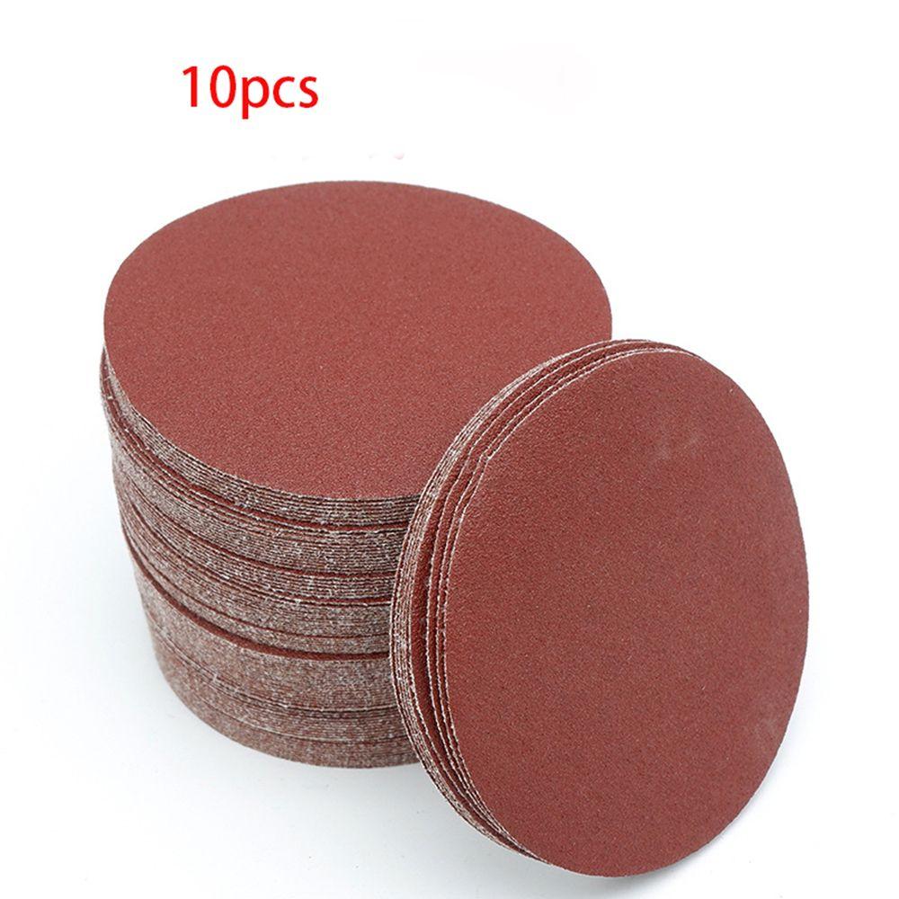 10pcs/set 2inch 50mm 100/240/600/800/1000/2000 Grits Sanding Paper Disc Set  Loop Sanding Disc For Sander Grits