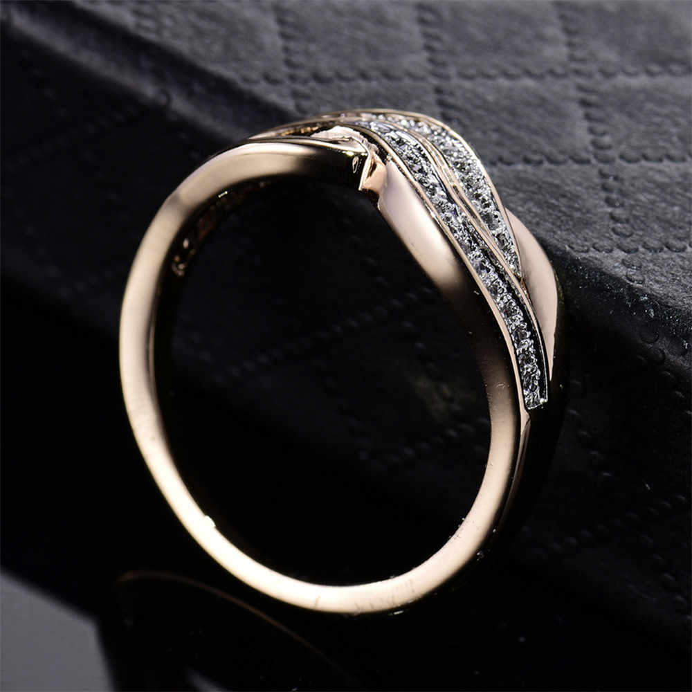 MOLIAM 2017 הגעה חדשה טבעות הצהרת נשים תכשיטי טבעת מעוקב Zirconia קריסטל צבע זהב-MLR227