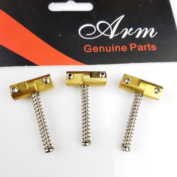 A Set OF Three Wilkinson Electric Guitar Brass Guitar Bridge Compensated Saddles for TL tele Replacement Part wilkinson vintage bridge for tele electric guitar brass saddles tele tl guitar bridge chrome silver wot02