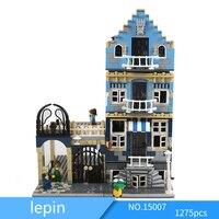 Лепин 15007 1275 шт. LegoINGlys Городской пейзаж серии европейского рынка DIY составное здание Конструкторы игрушечные лошадки для детей 10190